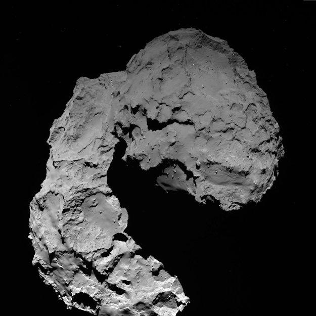 Kométa 67P z výšky zhruba 23 kilometrov. V tom okamihu bola sonda vzdialená asi deň od nárazu.
