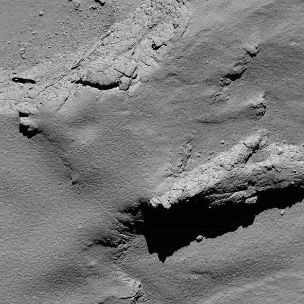 Miesto, na ktoré dosadla sonda Rosetta.