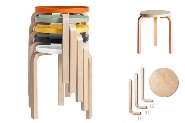 Klasický trojnohý stolček Artek Stool 60 je ikonou škandinávskeho dizajnu.