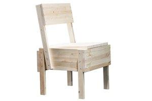 """Drevená stolička Sedia 1 nemá byť """"pekným"""" objektom interiérového dizajnu. Návrhár Enzo Mari ju zamýšľal skôr ako projekt, ktorý povzbudí uvažovanie nad zmyslom aj procesom samotnej nábytkárskej tvorby."""