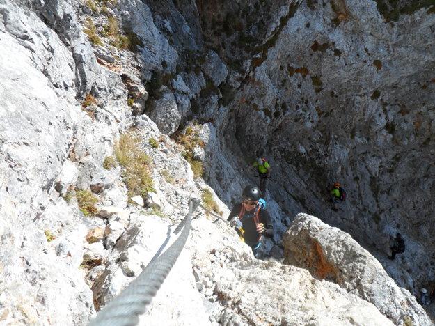 Posledné metre pred vrcholovou plošinou.