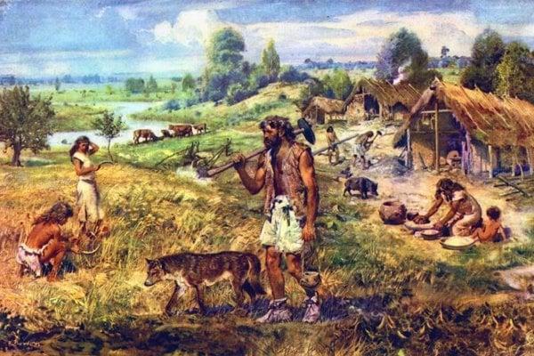 Neolitická osada podľe Z. Buriana.
