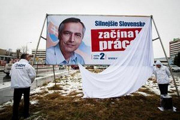 Volebná kampaň KDH v roku 2012.