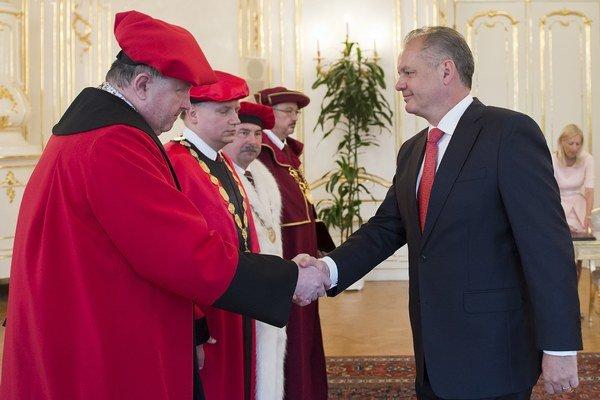 Andrej Kiska vymenoval štyroch rektorov vysokých škôl.