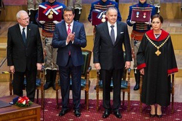 Prezident Andrej Kiska so šéfkou Ústavného súdu Ivettou Macejkovou.