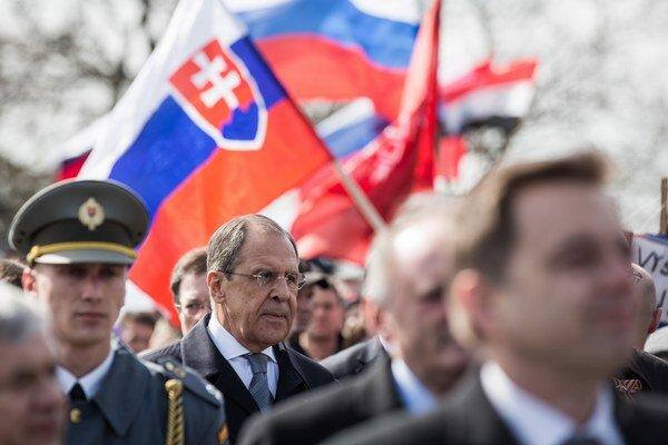 Na snímke minister zahraničných vecí Ruskej federácie Sergej Lavrov.