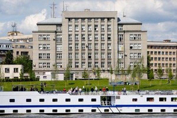 Budova Ministerstva vnútra pri Dunaji.