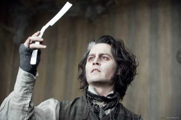 Johnny Depp ako čertovský holič z Fleet Street.