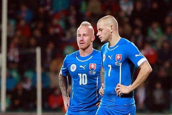Miroslav Stoch a Vladimír Weiss mladší (vpravo).