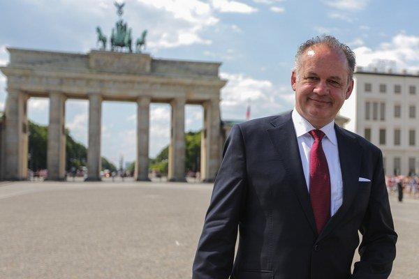 Andrej Kiska v Berlíne.