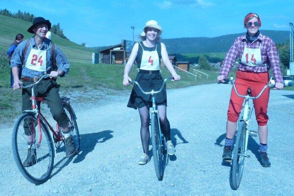 Novou kategóriu na 11. ročníku boli retro bicykle bez prevodu.