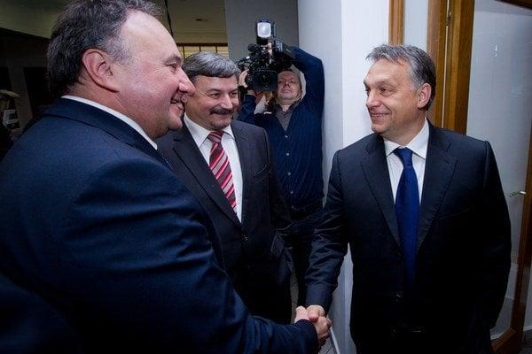 Csáky, Berényi a maďarský premiér Orbán.