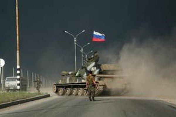 Čečenské mesto Groznyj počas bojov.