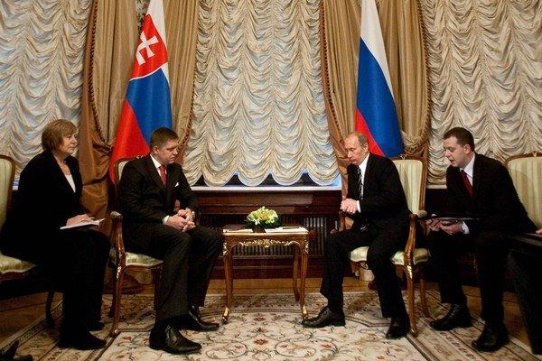 Robert Fico a Vladimir Putin.