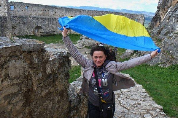 Ukrajinci z Kyjeva, ktorí sú u nás na rehabilitácii, na výlete na Spišský hrad.