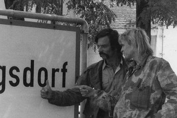 Pohl a Ospald pri rakúskej dedine Haugsdorf.