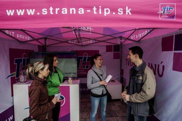 Kampaň strany TIP v Smoleniciach.