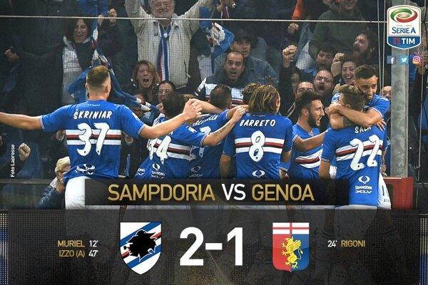 Sampdoria doma porazila Janov.