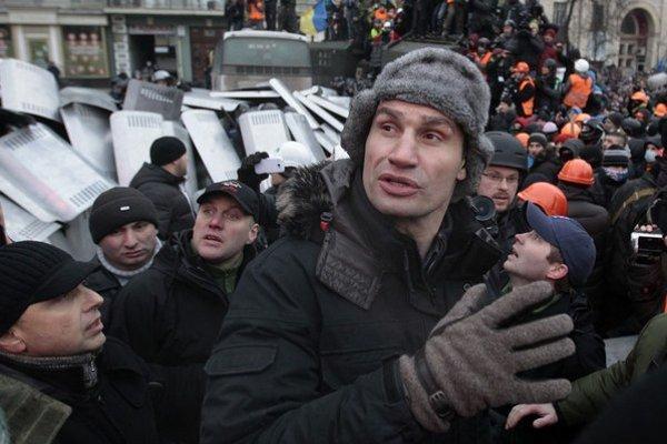 Vitalij Kličko je najvýraznejšia osobnosť opozície.