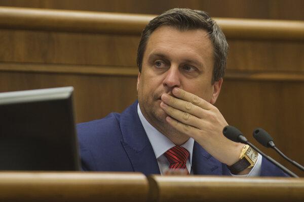 Na snímke predseda parlamentu Andrej Danko.