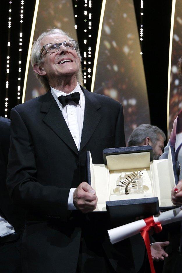 Ken Loach so Zlatou palmou v Cannes.
