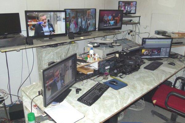 Televízne štúdio v Martine.