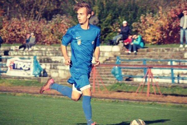 Filip Ciesarík strelil jediný gól zápasu Stráža - Čadca.