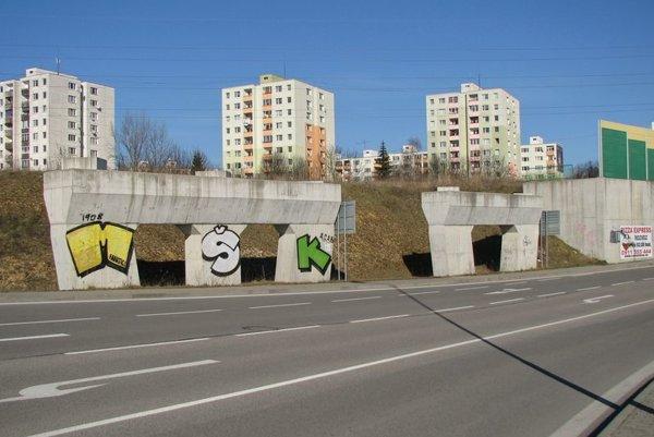 Miesto na žilinských Solinkách, kde sa privádzač napojí.