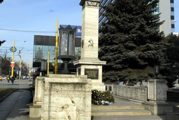 Pamätník osloboditeľom v Košiciach.