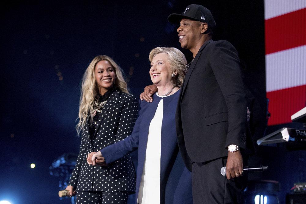 Clintonová s Beyonce a s Jay-z.