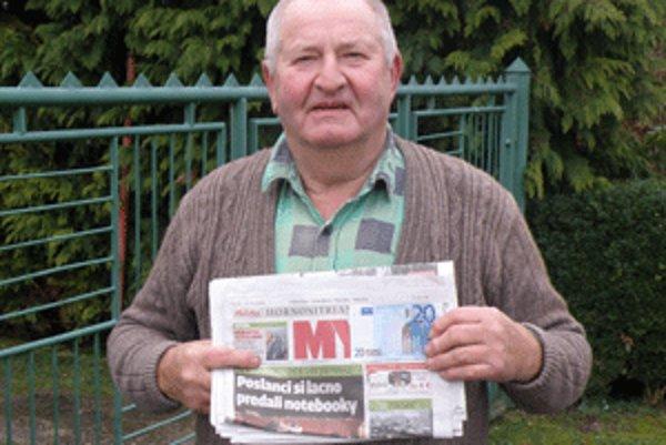 Jozef Kondrla z Nitrinskych Sučian číta MY Hornonitrianske noviny pravidelne každý týždeň.
