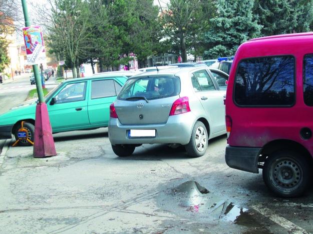 Pred spoplatnením parkovalo množstvo vodičov vmeste proti predpisom.