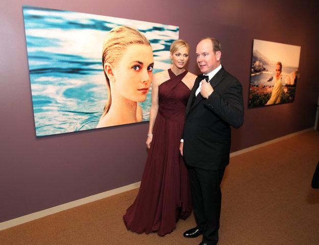 Princ Albert s manželkou Charlene