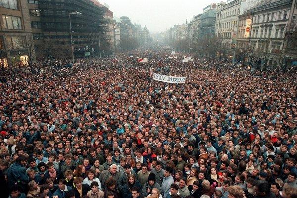 Praha, november 1989