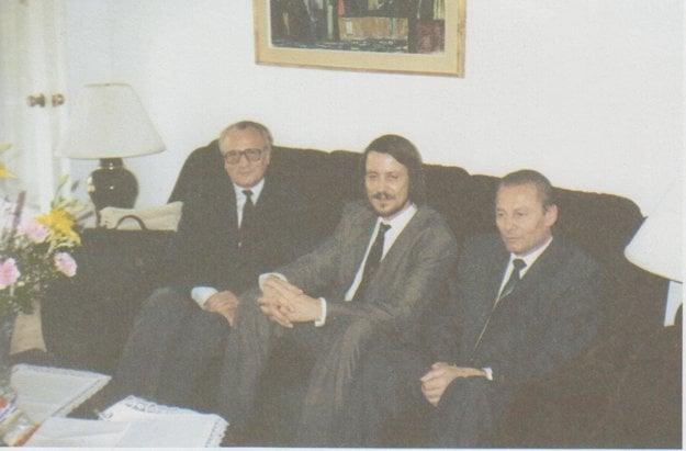 S Jánom Langošom. Z disidenta sa stal minister vnútra, zahynul pri automobilovej nehode.