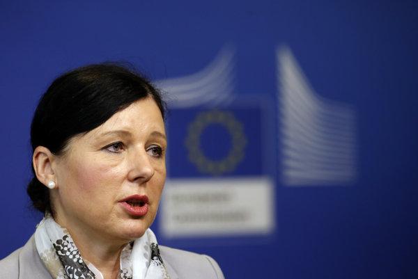 Európska komisárka pre spravodlivosť, ochranu spotrebiteľa a rodovú rovnosť Viera Jourová.