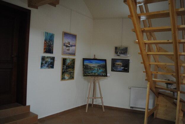 Výstava Spišská paleta. Dominujúca tematika je krajinomaľba.