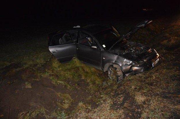 Zničené Audi.