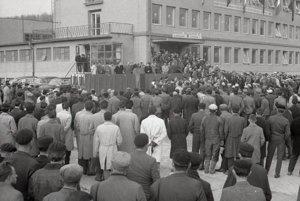 Otvorenie nového banského závodu v Pôtri.