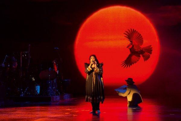 Koncert Kate Bushovej trval takmer tri hodiny. Podieľali sa na ňom divadelníci, bábkari aj iluzionista.