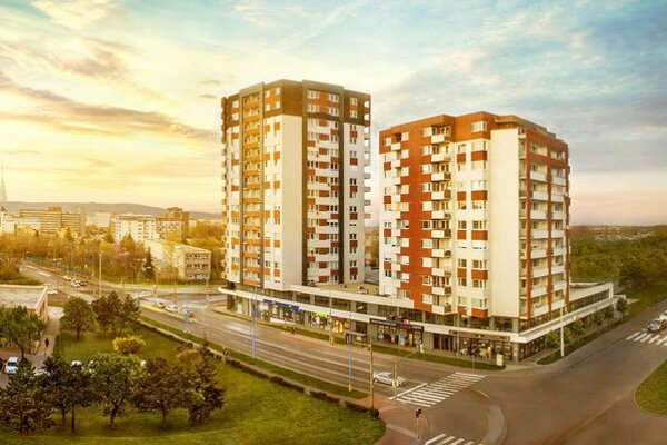 V ponuke 16 poschodových vežiakov sa nachádza 52 dvoj- a trojizbových bytov a 58 štvorizbových bytov.