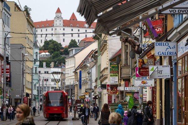 Bratislava, Obchodná ulica.