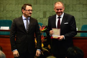 Prezident Andrej Kiska dnes zavítal do Banskej Bystrice.