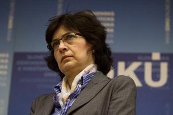 Podpredsedníčka SDKÚ Lucia Žitňanská.