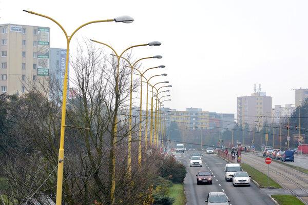Osvetlenie v Košiciach. Má prejsť rozsiahlou modernizáciou.