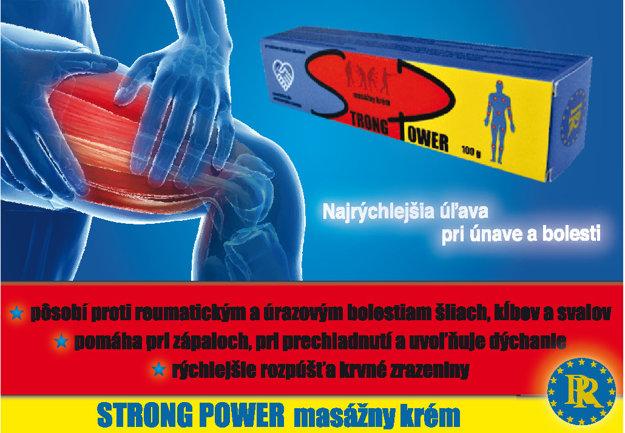 Masážny krém STRONG POWER nájdete od decembra v každej dobrej lekárni.