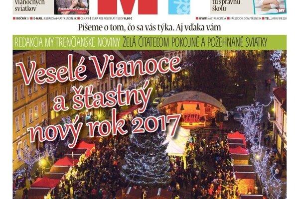 Vianočné dvojčíslo MY Trenčianskych novín.