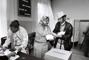Rómovia volia v Trnave v roku 1990.