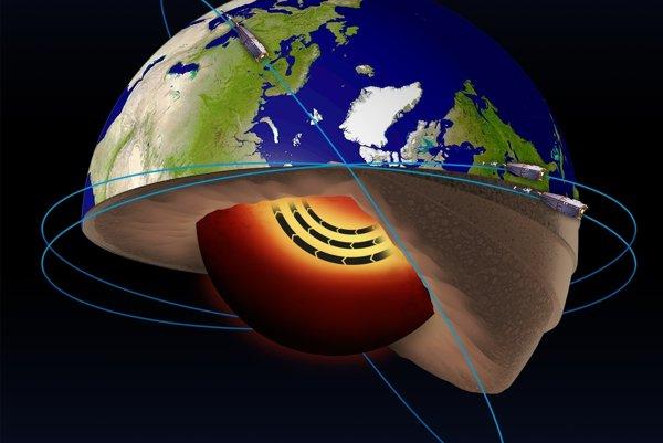 Prúd v zemskom jadre objavili vďaka satelitom Európskej vesmírnej agentúry.