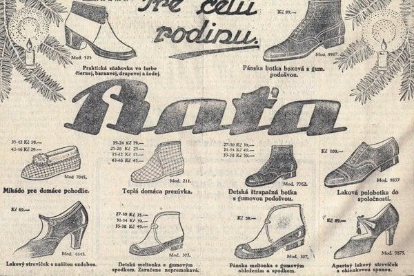 Vianočná reklama na obuv.